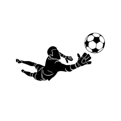 Football Character Sports Wall Sticker  Living Room Wall Decoration Removeable