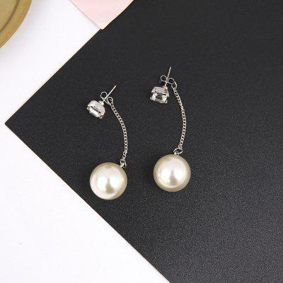 Low Cost Stylish Temperament Long Fringe And Diamond Earrings