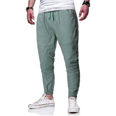 Men Simple Casual Fashion Loose Tooling Casual Trousers