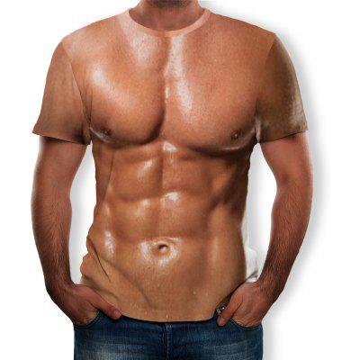 3D Muscle Print Men's Short Sleeve T-shirt
