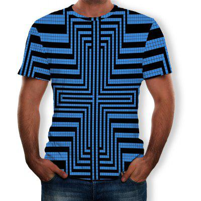 Men's New 3D Printed Mi-Shaped Short Sleeve T-shirt