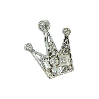 Gold Silver Color With Rhinestone Crown Brooch