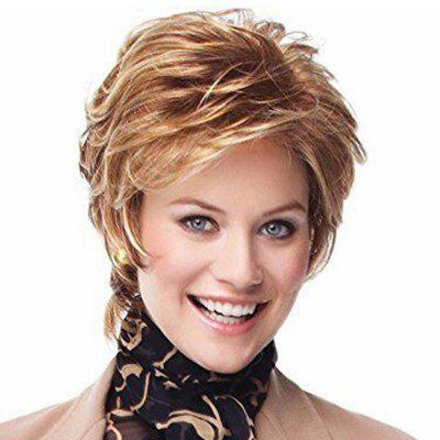 Fashionable Slim Face Fluffy Short Wig