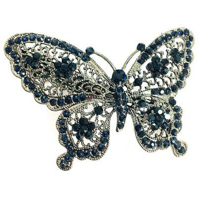 New Fashion Hair Decoration High-End Diamond Butterfly Hollow Hair Clip