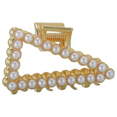 Metal Hairpin Grips Small Pearl Water Drill Grips Bangs Hair Clip