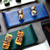 Japanese Creative Foot Rectangle Ceramic Sushi Dish Snack Tray - BLUEBERRY BLUE
