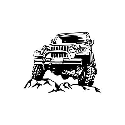 Creative Vehicle Off-Road Vehicle Home Wall Decoration Sticker