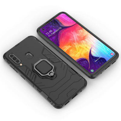 Buckle Frosted Drop Protection Shell Phone Case with Ring for Samsung Galaxy A60