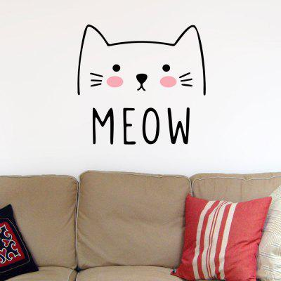 Cartoon Cute Cat Sticker Home Bedroom Wall Background Decoration Sticker