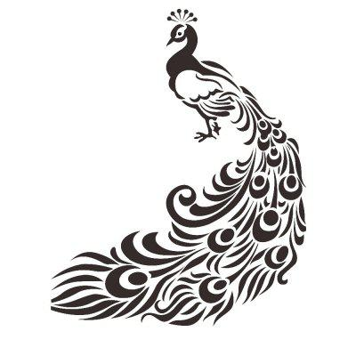 Peacock Living Room Decoration PVC Carved Waterproof Removable Wall Stickers