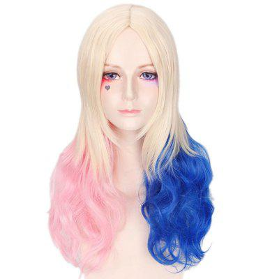 Cosplay Gradient Ramp Central Parting Hair Style Wig