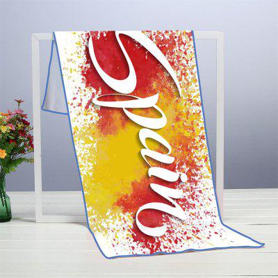 Microfiber Digitally Printed Rectangular Beach Towel