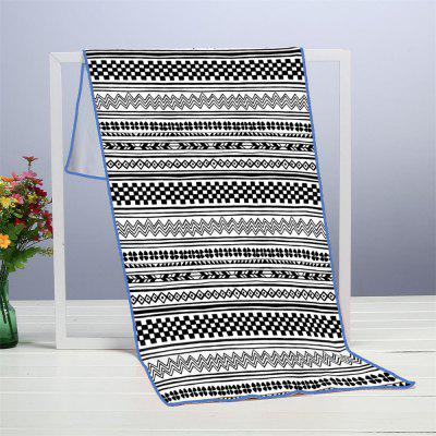 Geometric Stripe Microfiber Digitally Printed Rectangular Beach Towel