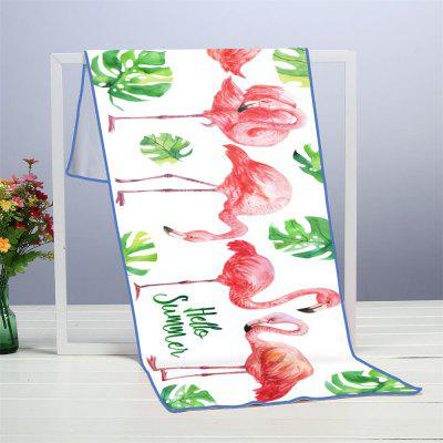Turtle Flamingo Microfiber Digitally Printed Rectangular Beach Towel