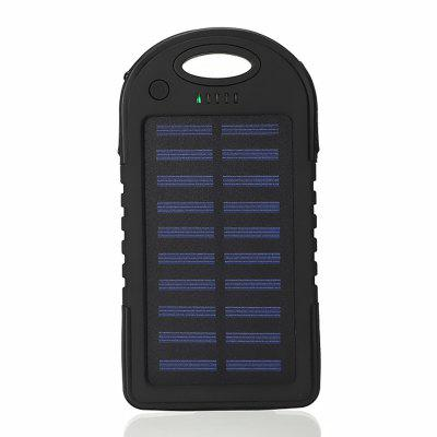 USB Portable Solar Power Ladegerät LED-Licht