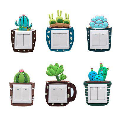 Creative de lumină Cactus Switch autocolant 6PCS