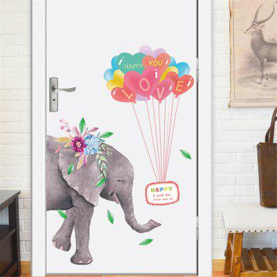 Coloured Balloon Elephant Flower Wall Sticker Home Decal Sticker Removeable