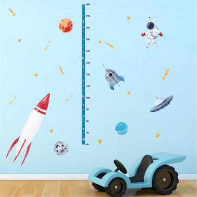 Space Spacecraft Measure Height Gauge Sticker Home Decoration Removable Sticker