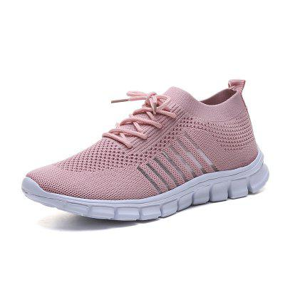 Flat Bottom Breathable Fashion Tie Female Sneakers 865