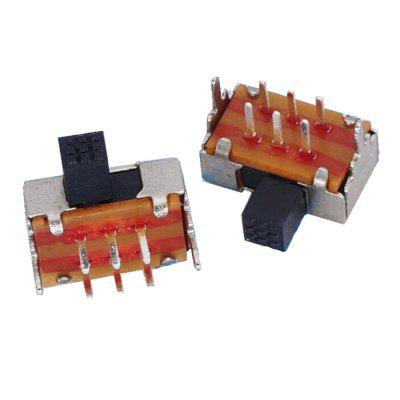 Toggle Switch Flapper 2P2T Dois Block 6PIN Switch SK22D02 50Pcs