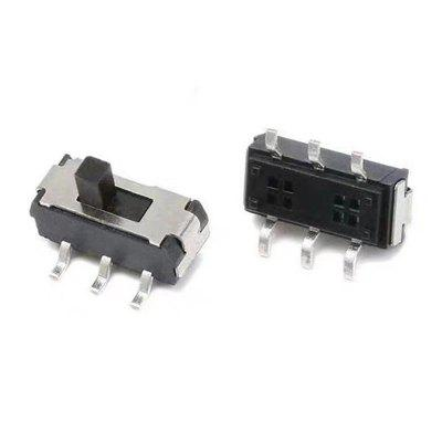 MSS22D18 Mini Miniature SMD Slide Switch 2P2T 6PIN for DIY Accessories 10Pcs