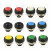 PBS-33B 12mm Push Button Waterproof Lockless Momentary ON/OFF Switch 12pcs - MULTI-A