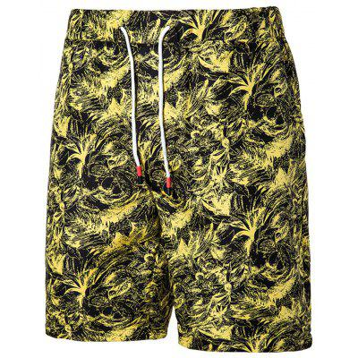 Men's  Summer Large Size Casual Trend Five Points Beach Shorts