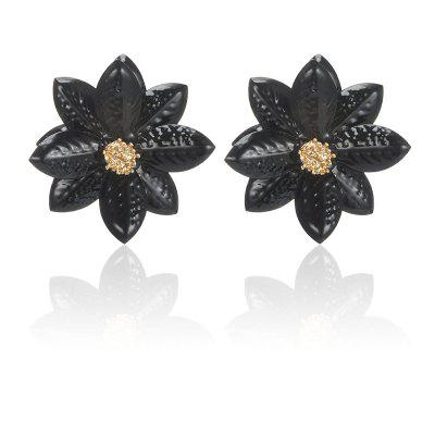 Girl Candy Color Flower Cute Alloy Earrings