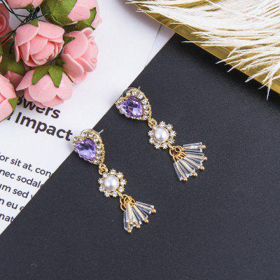Temperament Love Crystal Tassel Personality Earrings