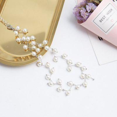 Temperament Cute Pearl Beaded Student Clavicle Chain Necklace