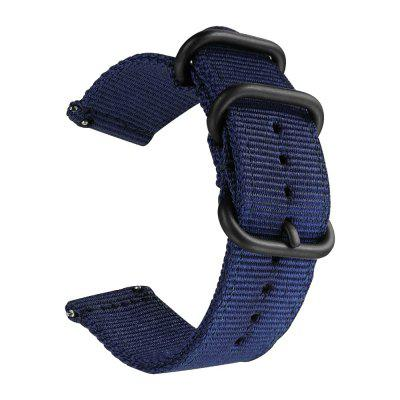 Nylon Woven Watch Band Strap Wristband for Pebble Time / Steel Smart Watch