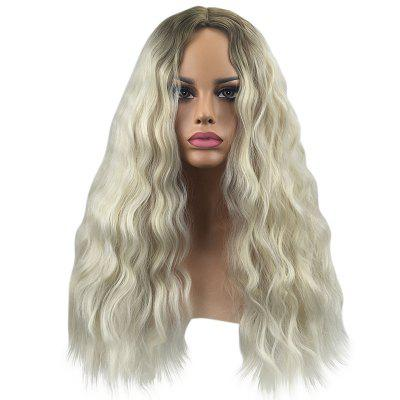 Central Parting Hair Style Big Wave Corn Stigma Long Wig