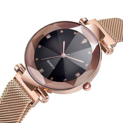Luxury Diamond Rose Gold Magnet Buckle Women Watches