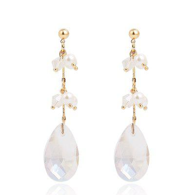 Fashion Personality Pearl Cold Wind Crystal Tassel Earrings
