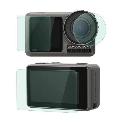 Gehard glas screen protector + lensfilm set voor DJI Osmo Action Camera 4K