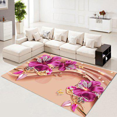 Jewelry Lily Digital Print Carpet Environmental Protection Living Room Carpet