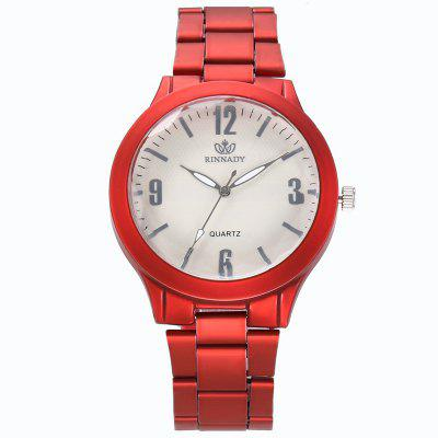 New Women Round Dial Simple Sports Steel Quartz Watch