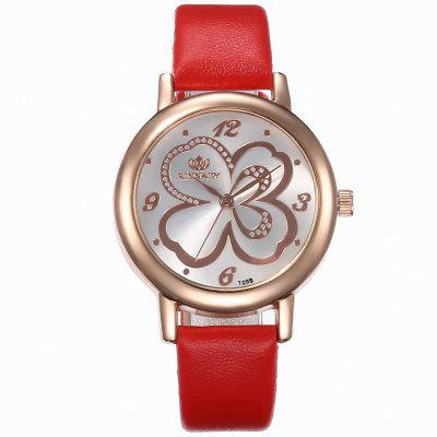 Women Simple Leather Strap Quartz Watch