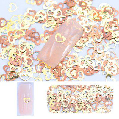 Golden Hollow Flakes Sequins Nail Inset Glitter Nail Decoration 200Pcs/Pack