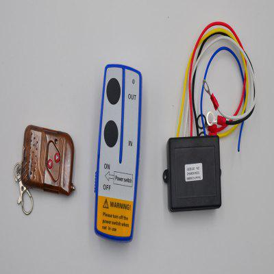 12V Blue Wireless Winch Remote Controller