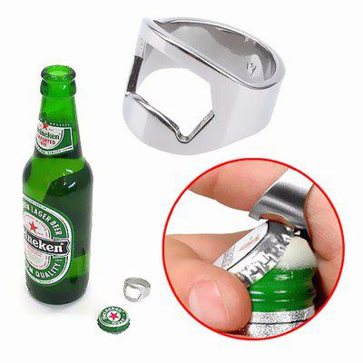 Versatile Stainless Steel Ring Beer Bottle Opener