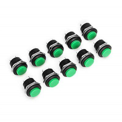 R13-507 125V 6A 16mm No Lock Self-reset Switch Push Button OFF/ON 10pcs