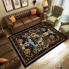 European Classic Printing Carpet for Living Room and Bedroom 160x120cm - BLACK