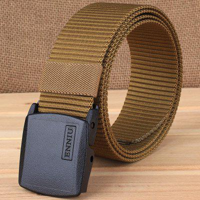 ENNIU Outdoor Plastic Button Solid Color Quick-Drying Nylon Tactical Belt