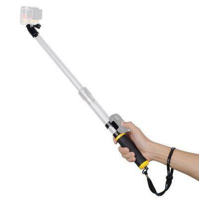 Telescoping Waterproof Selfie Stick for Gopro Buoyancy Rod Monopod