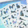 Creative Kawaii Cat DIY Stickers Scrapbooking Decoration Sticker 6PCS - BLUE