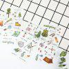 Camping Series Creative Paper Stickers DIY Planner Diary Decoration 6PCS - GREEN ONION