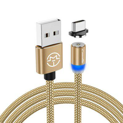 CaseMe Type-C Magnetic Charger Cable LED Phone Charging USB for Samsung Huawei