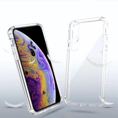 Transparent Shockproof Silicone Clear TPU Soft Phone Case for iPhone X / XS