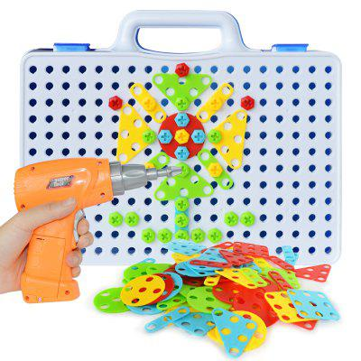 Children'S Educational DIY Toy Electric Drill Assembled Amazing Building Blocks